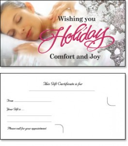 Massage Therapy Gift Certificates by Sarah Nottingham, RMT